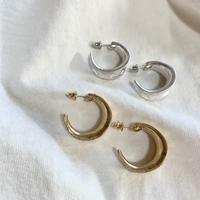 Mat metal hoop pierces (silver925 post) #346 / #347