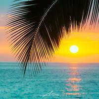 Kona Sunset Mat Print A3