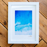 The Beach Craft Co. White Wood Frame A3 Single