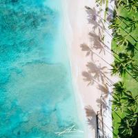 Waikiki Beach Mat Print A3