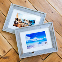 The Beach Craft Co. Barn Wood Frame A3 Double