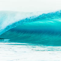 Makaha Wave  Mat Print A3