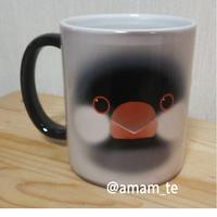 色の変わるマグカップ(文鳥)