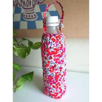 リバティペットボトルカバー(持ち手あり)ウィルトシャー・ピンク