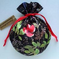 リバティキャンディ巾着・イルマ縮小サイズ・ブラック