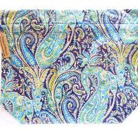 リバティトラベル巾着 フェリックス&イザベラ ブルー
