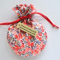 リバティキャンディ巾着・ウィルトシャー・サーモンピンク