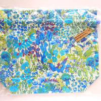 リバティトラベル巾着 ペインターズメドウ ブルー