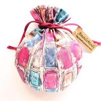 リバティキャンディ巾着・イアンローズ・ピンク
