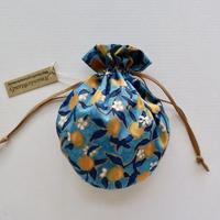リバティキャンディ巾着・レモングローブ・イエロー