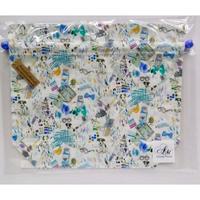 リバティトラベル巾着・スタジオ・ブルー