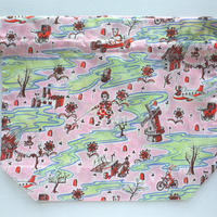 リバティトラベル巾着・フロー・ピンク