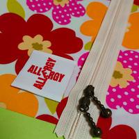NEWひょっこりエピペン用ポーチご予約【北欧風ピンク&オレンジ花柄ラミネート】