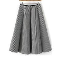 Stripedミディスカート