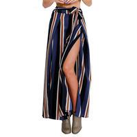 Stripedワイドパンツ