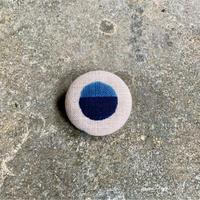 藍ブローチ #001