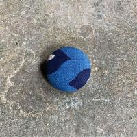 藍ブローチ #002