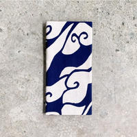 Yakumo (Cloudy Skies) Tenugui (hand towel) -Dark Blue