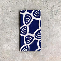 Shijimi (Basket Clams) Tenugui (hand towel) -Dark Blue