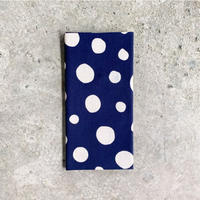 Polka Dots Tenugui (hand towel) -Dark Blue