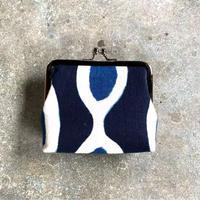 Indigo Gamaguchi (coin purse) -African Inspired Pattern-