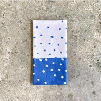 Polka Dots Sash Tenugui (hand towel) -Light Blue-