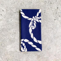 """Tie the knot"" Tenugui (hand towel) -Dark Blue"