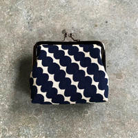 Indigo Gamaguchi (coin purse) -Rows of Beads-