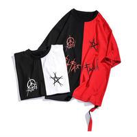[売り切れ間近]ハーフバイカラービックTシャツ 2カラー