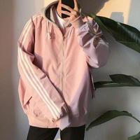 【SALE】フード付きラインジャケット 4カラー