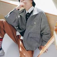 【STREET】特殊生地デザインジャケット 2カラー