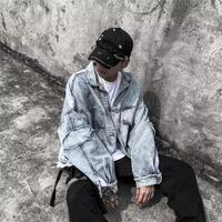 【ストリート】特殊ダメージデザインデニムジャケット【XX00938】