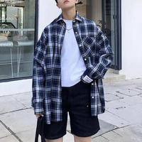 オーバーサイズチェックシャツ【S00043】