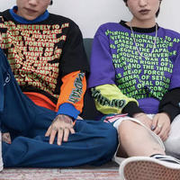 【売り切れ間近】カラフルデザインロングTシャツ 2カラー