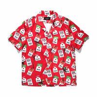 【大人気】レッドデザインシャツ