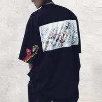 【トレンド】百鳥ビックサイズTシャツ 2カラー