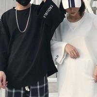 [TREND]ビックサイズ韓国風ロングTシャツ 2カラー