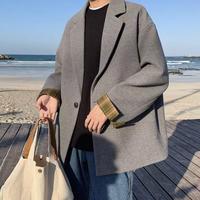 【韓国風】チェック柄デザインワークジャケット【LA0701】