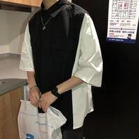 【売れ筋】スリットデザインバイデザインシャツ 2カラー