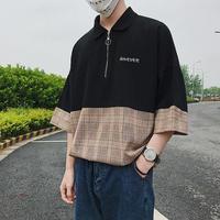 [GOOD]バイカラーファスナーTシャツ 2カラー