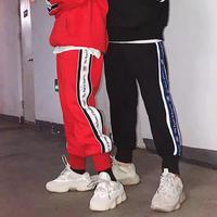 【2018AW】ラインジョガーパンツ風ラフパンツ 3カラー