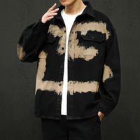 【ストリート】カーキラインデザインジャケット【EF00887】
