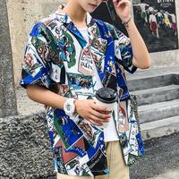 [DOPE]奇抜柄デザインシャツ 2カラー