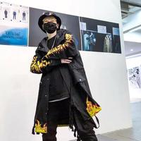 【売り切れ間近】ファイヤーデザインロングジャケット