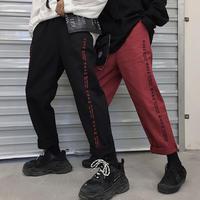 【DOPE】ワードラインデザインデニムパンツ 2カラー