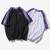 [大人気]ショルダーラインビックサイズTシャツ 2カラー