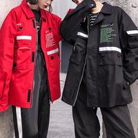 【2018AW】リフレクトWORDデザインジャケット 3カラー