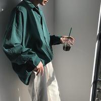 [売り切れ間近]オーバーサイズデザインシャツ 3カラー