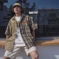 バイカラーカジュアルシャツ【S00111】