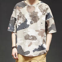 [大人気]ダメージデザイン迷彩Tシャツ 3カラー